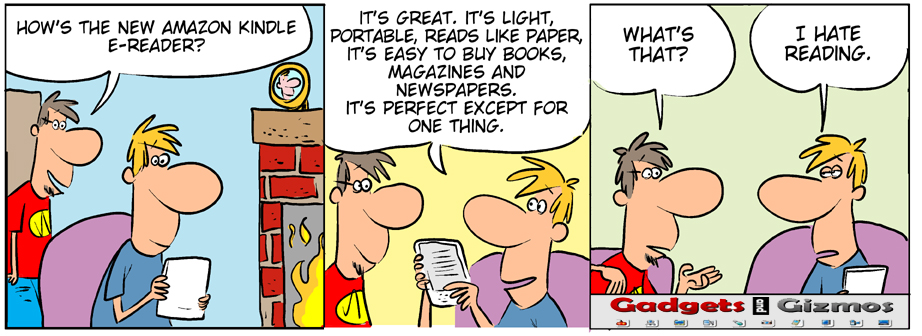 gadget cartoon Amazon Kindle