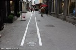 Text Walking Lanes Added in Belgian City